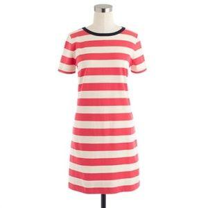 J.Crew Rugby Stripe Cotton Knit A-Line Dress